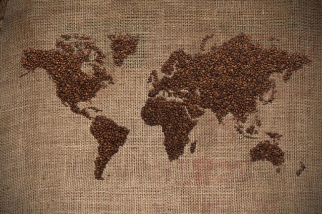 コーヒー,世界地図